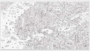 Giant NYC Coloring Poster