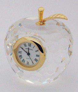 Crystal apple clock