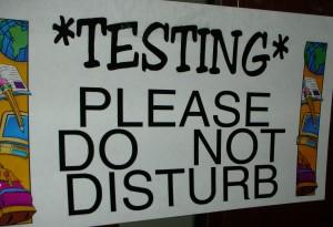 Taking the SAT exam
