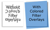 colored overlays