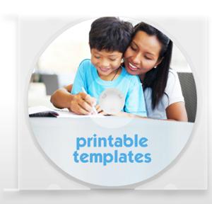 Kidzmet Printable Template CD