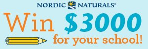 Enter your school to $3,000 in School Supplies from Nordic Naturals