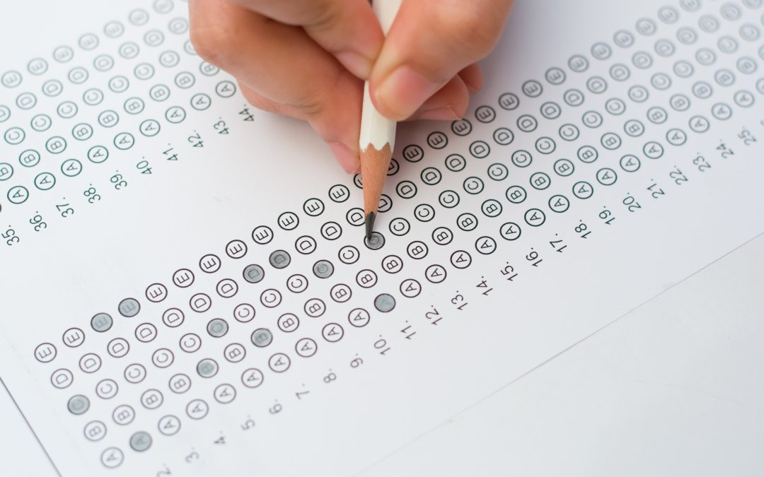 student practicing questions to prep for exams
